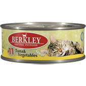 Консервы для кошек Berkley #11 Tuna & Vegetables Adult тунец с овощами 0,1 кг